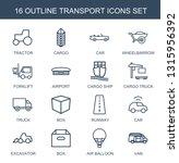 transport icons. trendy 16... | Shutterstock .eps vector #1315956392