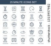 25 minute icons. trendy minute... | Shutterstock .eps vector #1315957982