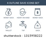 6 save icons. trendy save icons ... | Shutterstock .eps vector #1315958222