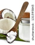 Close Up Of Coconut Oil On The...