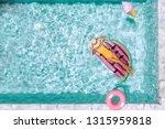 woman relaxing on watermelon...   Shutterstock . vector #1315959818