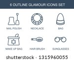 6 glamour icons. trendy glamour ... | Shutterstock .eps vector #1315960055
