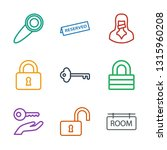 9 private icons. trendy private ... | Shutterstock .eps vector #1315960208