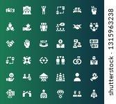 partnership icon set.... | Shutterstock .eps vector #1315963238