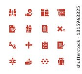 agreement icon set. collection... | Shutterstock .eps vector #1315963325