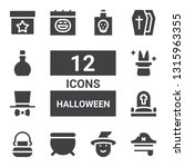 halloween icon set. collection... | Shutterstock .eps vector #1315963355