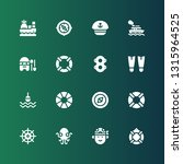 nautical icon set. collection... | Shutterstock .eps vector #1315964525