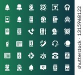 call icon set. collection of 36 ... | Shutterstock .eps vector #1315968122