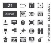 cursor icon set. collection of... | Shutterstock .eps vector #1315968332