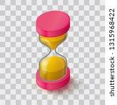 icon hourglass. sandglass on a...