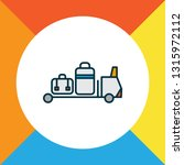 baggage transfer icon colored... | Shutterstock .eps vector #1315972112