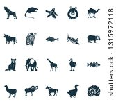 fauna icons set with... | Shutterstock .eps vector #1315972118