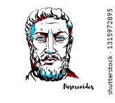 parmenides engraved portrait... | Shutterstock . vector #1315972895