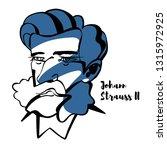 johann strauss ii engraved... | Shutterstock . vector #1315972925