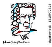 johann sebastian bach engraved... | Shutterstock . vector #1315972928