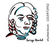 george handel engraved portrait ... | Shutterstock . vector #1315972952