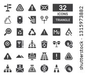 triangle icon set. collection... | Shutterstock .eps vector #1315973882