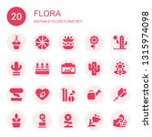 flora icon set. collection of... | Shutterstock .eps vector #1315974098