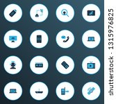 connection icons colored set...   Shutterstock .eps vector #1315976825
