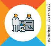 passenger at registration icon... | Shutterstock .eps vector #1315976882