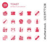 toast icon set. collection of... | Shutterstock .eps vector #1315977128