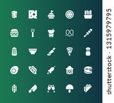 meal icon set. collection of 25 ... | Shutterstock .eps vector #1315979795
