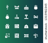 lifting icon set. collection of ... | Shutterstock .eps vector #1315982345