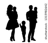 isolated  family silhouette ... | Shutterstock .eps vector #1315982642