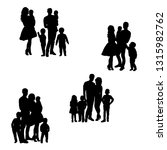isolated  silhouette people... | Shutterstock .eps vector #1315982762