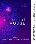 dance flyer. dynamic gradient... | Shutterstock .eps vector #1315984112