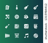 melody icon set. collection of... | Shutterstock .eps vector #1315984412