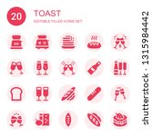 toast icon set. collection of... | Shutterstock .eps vector #1315984442