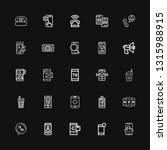 editable 25 receiver icons for... | Shutterstock .eps vector #1315988915