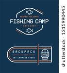 camping logos templates vector... | Shutterstock .eps vector #1315990445