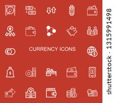 editable 22 currency icons for... | Shutterstock .eps vector #1315991498