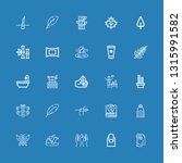 editable 25 spa icons for web... | Shutterstock .eps vector #1315991582