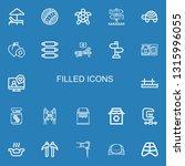 editable 22 filled icons for... | Shutterstock .eps vector #1315996055