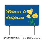 welcome to california road sign | Shutterstock .eps vector #1315996172