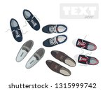 sneakers and flat style shoes.... | Shutterstock .eps vector #1315999742