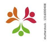 colorful teamwork logo | Shutterstock .eps vector #1316000408