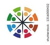 colorful teamwork logo | Shutterstock .eps vector #1316000432