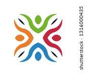 colorful teamwork logo | Shutterstock .eps vector #1316000435