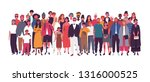 diverse multiethnic or... | Shutterstock .eps vector #1316000525