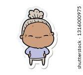 sticker of a cartoon peaceful... | Shutterstock .eps vector #1316000975