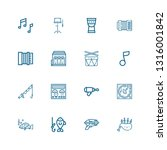 editable 16 bass icons for web... | Shutterstock .eps vector #1316001842