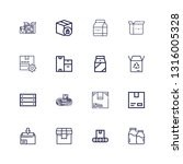 editable 16 carton icons for... | Shutterstock .eps vector #1316005328