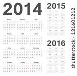 simple russian 2014  2015  2016 ... | Shutterstock .eps vector #131601212