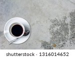 top view of a cup of coffee on... | Shutterstock . vector #1316014652