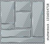 glass plate. glass texture... | Shutterstock .eps vector #1316014718