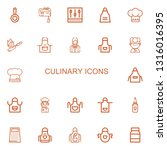 editable 22 culinary icons for... | Shutterstock .eps vector #1316016395
